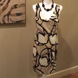 Ann Taylor | Sleeveless Mock Wrap Dress